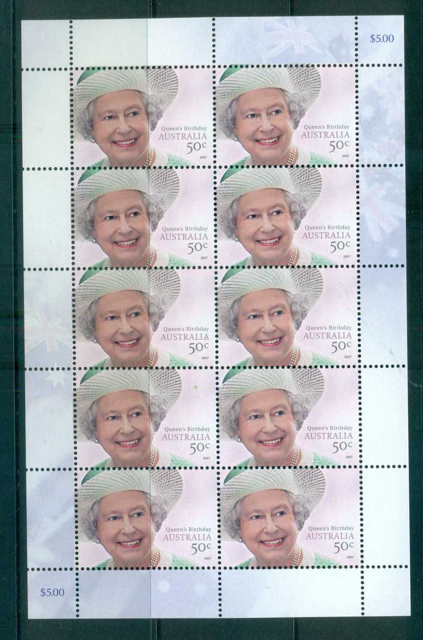Australia 2007 Queen's Birthday Sheetlet MUH lot63232