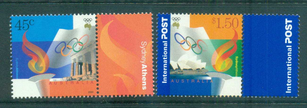 Australia 2000 Olympic Sydney/Athens Joint issue MUH lot63355