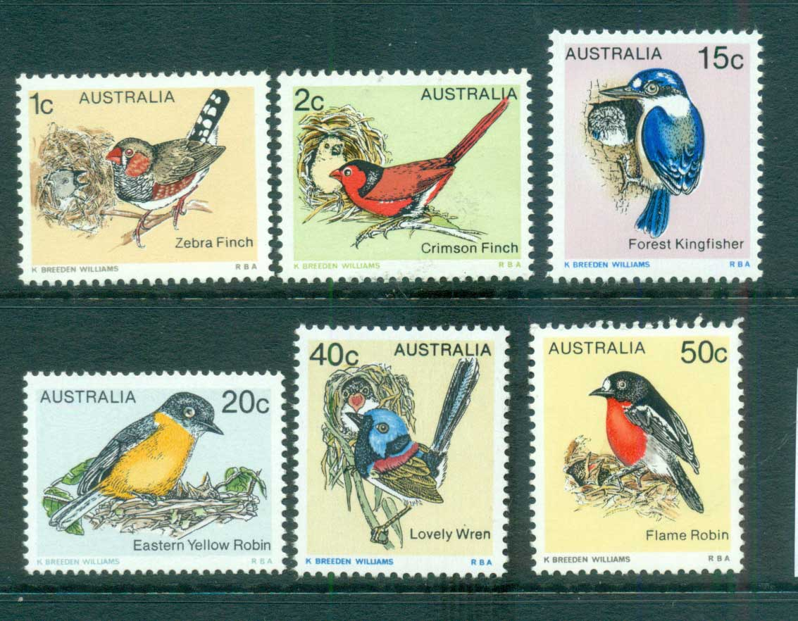 Australia 1979 Birds Part II (6) MUH lot63911