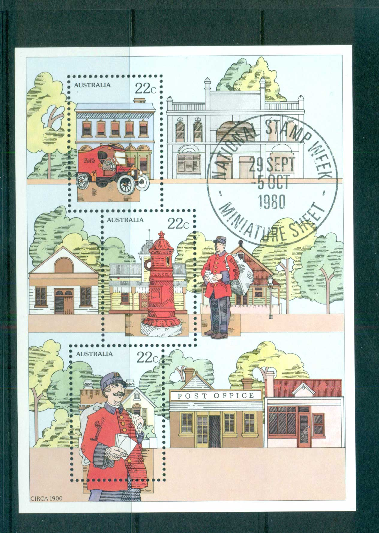 Australia 1980 National Stamp Week MS MUH lot63923