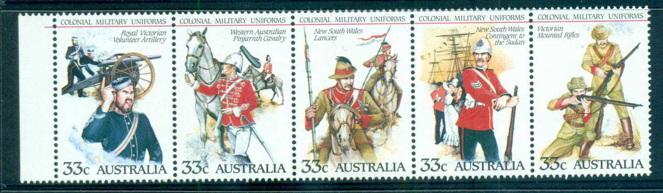 Australia 1985 Military Uniforms Str 5 MUH lot63989