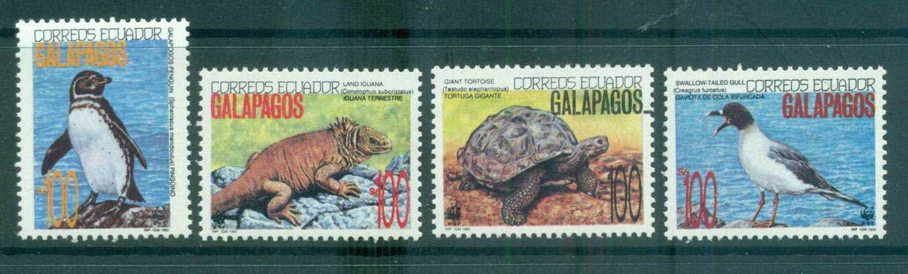 Ecuador 1992 WWF Galapagos Wildlife MUH lot64037