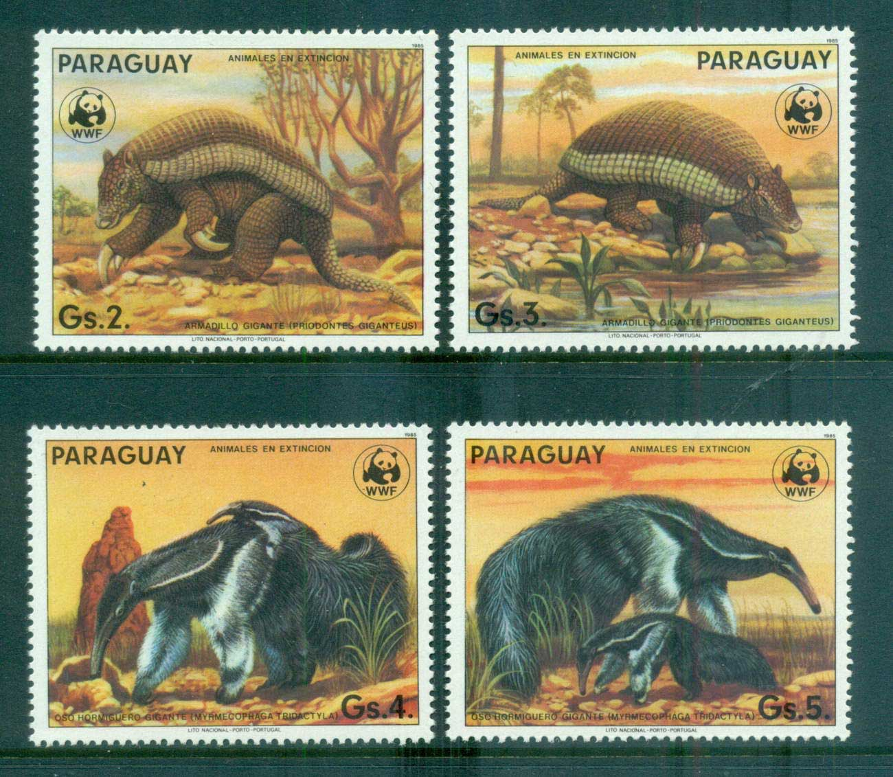 Paraguay 1985 WWF Ant-Eating Giants MUH lot64089
