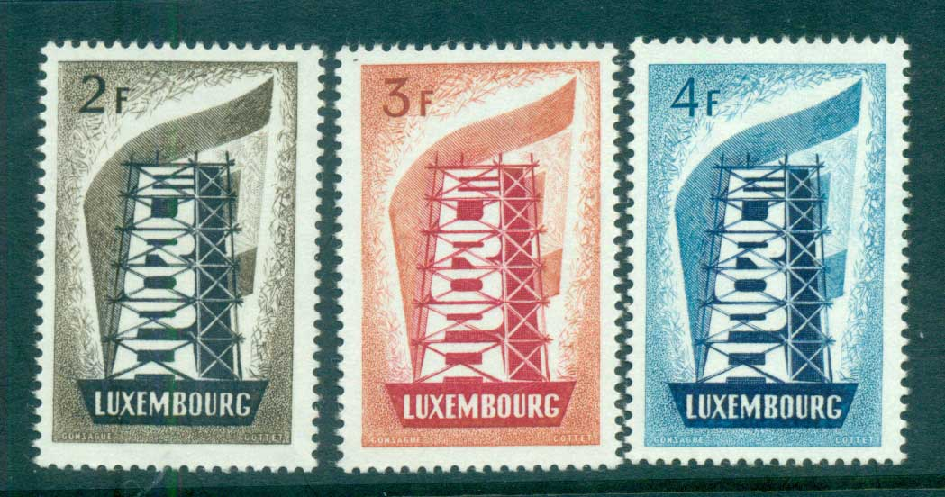 Luxembourg 1956 Europa, Scaffold MUH lot65271