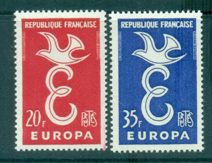 France 1958 Europa, Bird & Ring MUH lot65283
