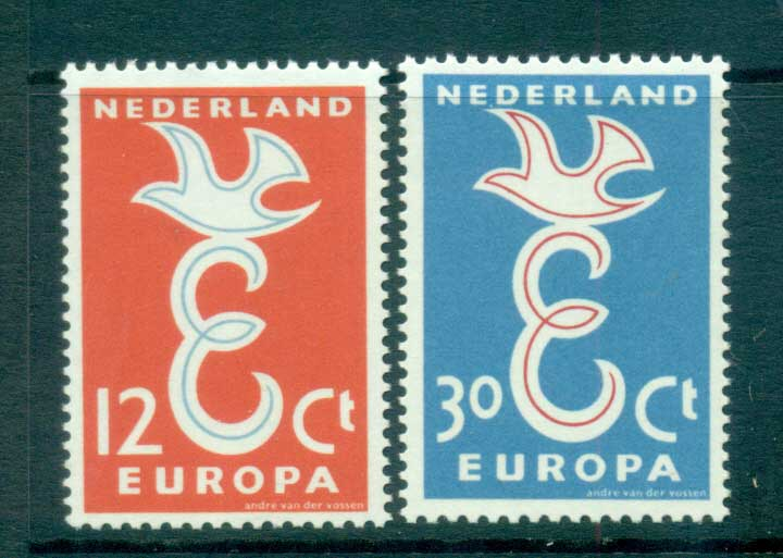 Netherlands 1958 Europa, Bird & Ring MUH lot65286