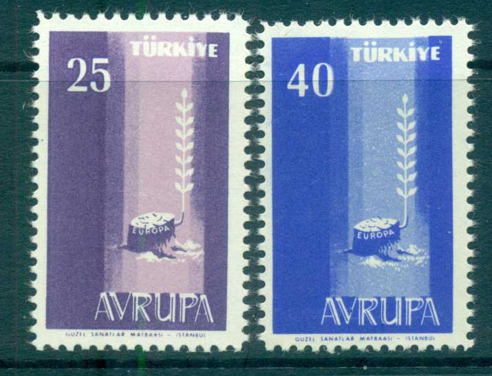 Turkey 1958 Europa, Bird & Ring MUH lot65287