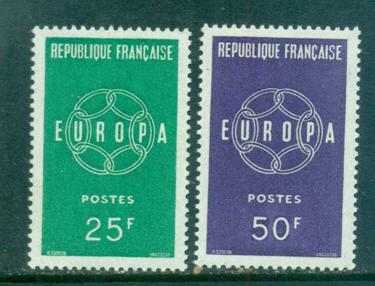 France 1959 Europa, Global Links MUH lot65290