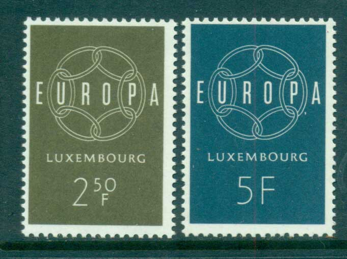 Luxembourg 1959 Europa, Global Links MUH lot65292