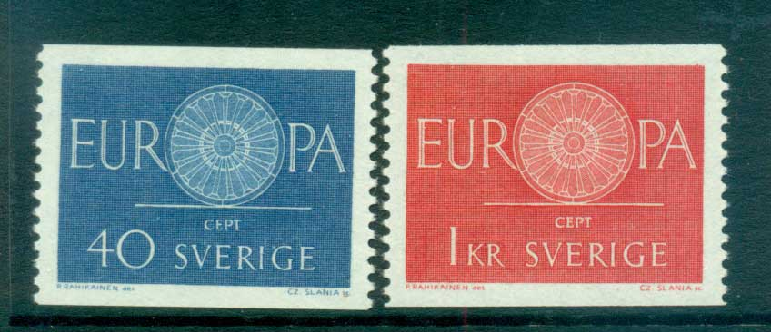 Sweden 1960 Europa, Spoked Wheel MUH lot65312