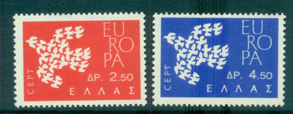 Greece 1961 Europa, Birds of Birds MUH lot65320