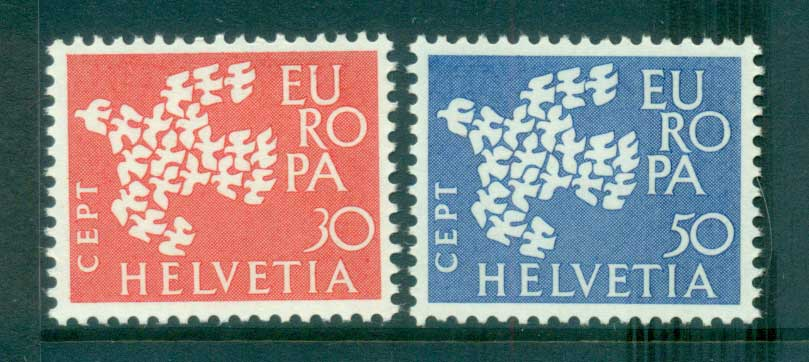 Switzerland 1961 Europa, Birds of Birds MUH lot65328