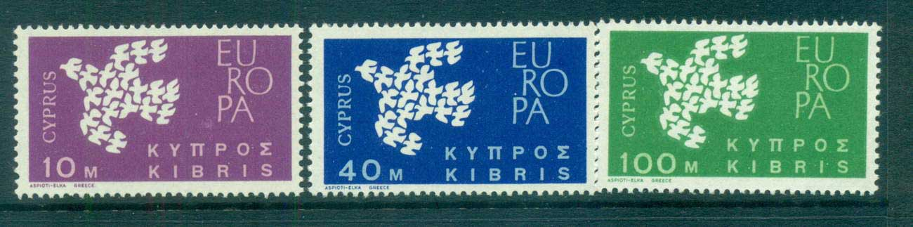 Cyprus 1961 Europa, Birds of Birds MUH lot65332