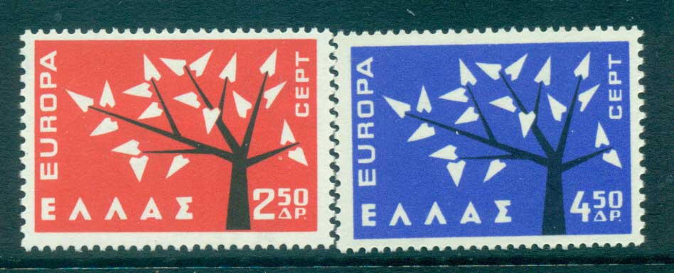 Greece 1962 Europa, Tree with Leaves MUH lot65336