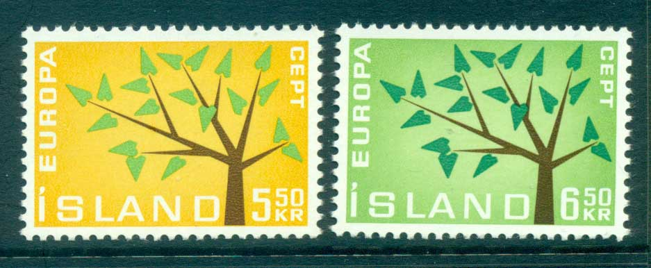Iceland 1962 Europa, Tree with Leaves MUH lot65338