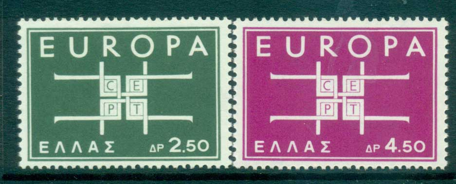 Greece 1963 Europa, Interlock Links MUH lot65355