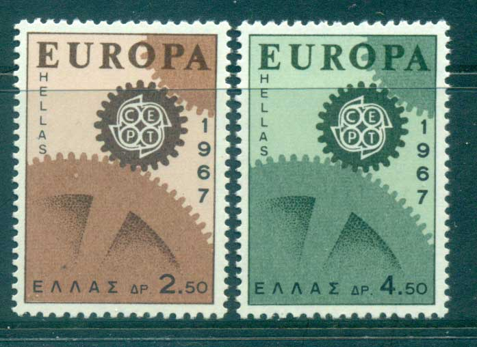 Greece 1967 Europa, Cogwheels MUH lot65434
