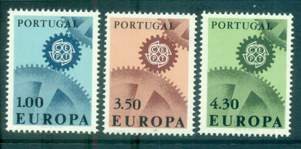 Portugal 1967 Europa, Cogwheels MUH lot65443