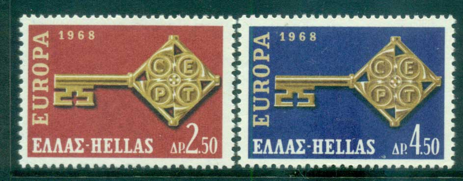 Greece 1968 Europa, Key with Emblem MUH lot65451