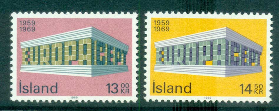 Iceland 1969 Europa, Europa Building MUH lot65473