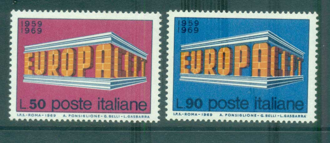 Italy 1969 Europa, Europa Building MUH lot65475