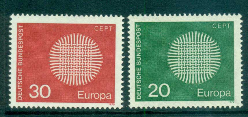 Germany 1970 Europa, Woven Threads MUH lot65493