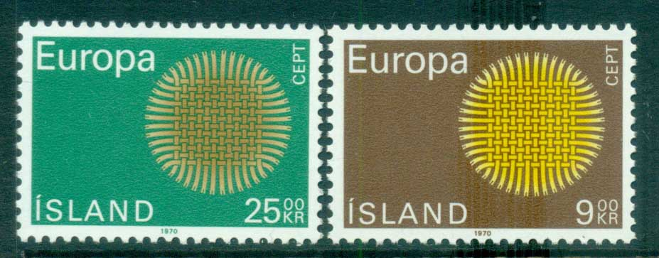 Iceland 1970 Europa, Woven Threads MUH lot65499