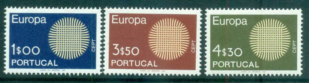Portugal 1970 Europa, Woven Threads MUH lot65505