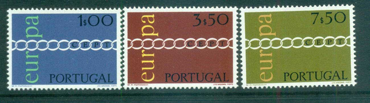 Portugal 1971 Europa, Chain through O MUH lot65529