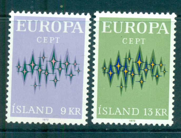 Iceland 1972 Europa, Sparkles MUH lot65538