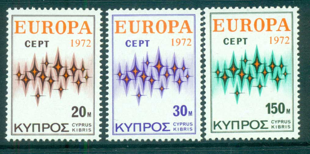 Cyprus 1972 Europa, Sparkles MUH lot65552