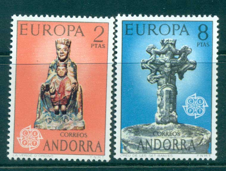Andorra (Sp) 1974 Europa, Sculpture MUH lot65578