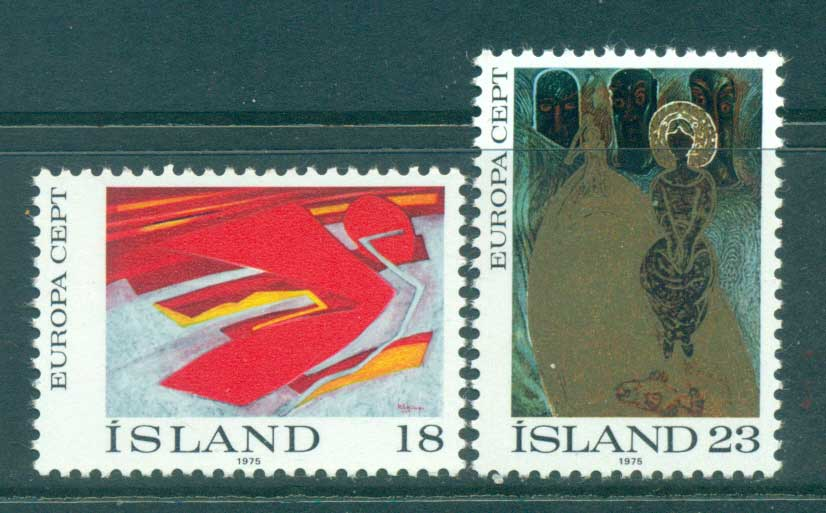 Iceland 1975 Europa, Paintings MUH lot65608