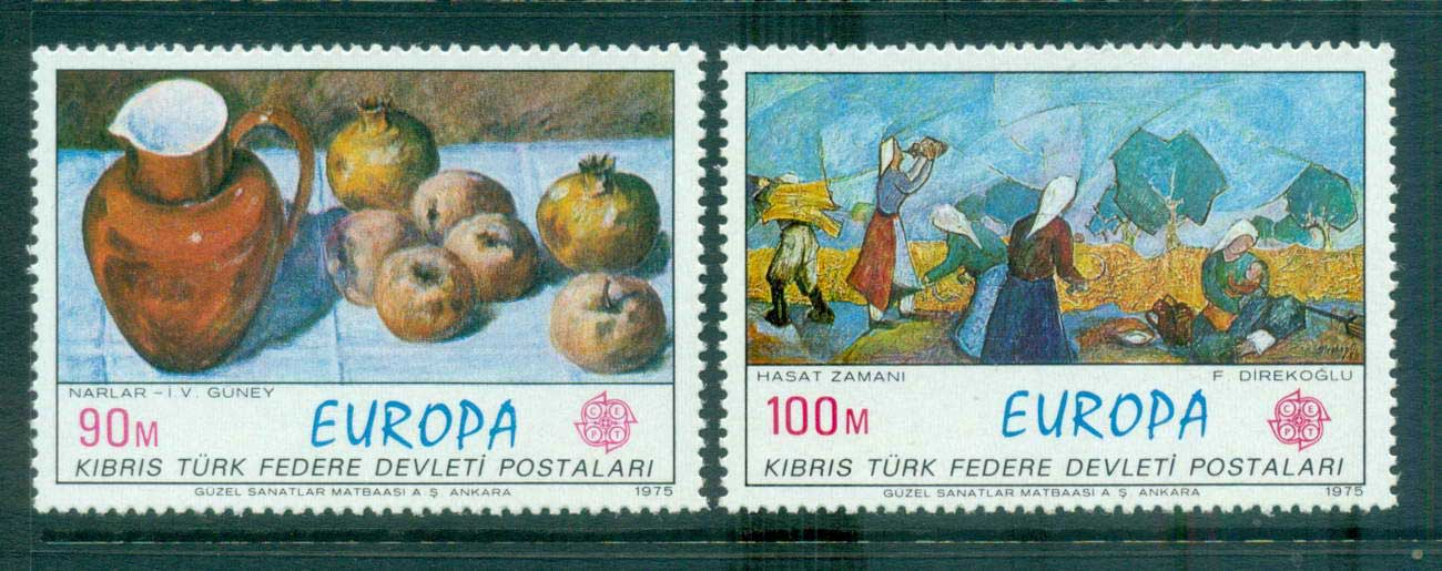 Cyprus Turkish 1975 Europa, Paintings MUH lot65615