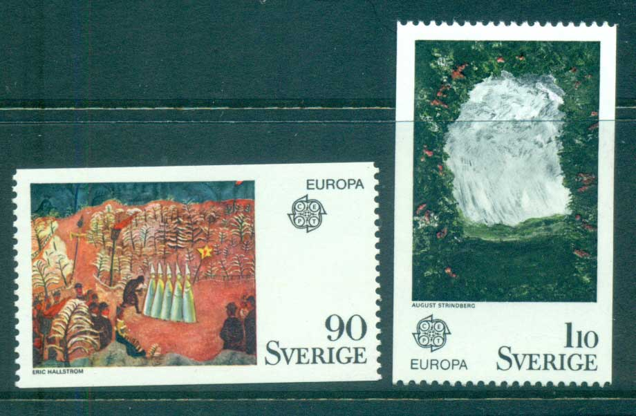Sweden 1975 Europa, Paintings MUH lot65620