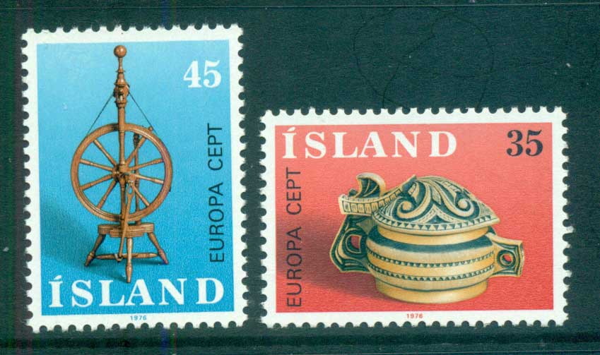 Iceland 1976 Europa, Pottery MUH lot65635