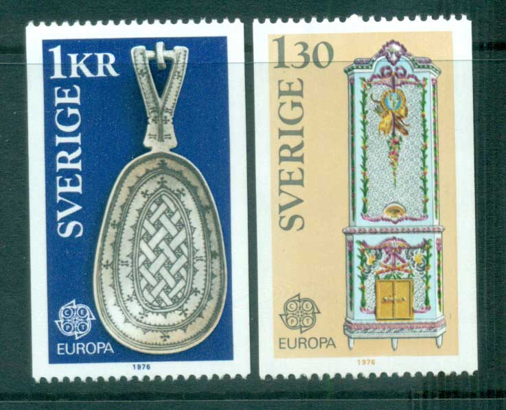 Sweden 1976 Europa, Pottery MUH lot65638