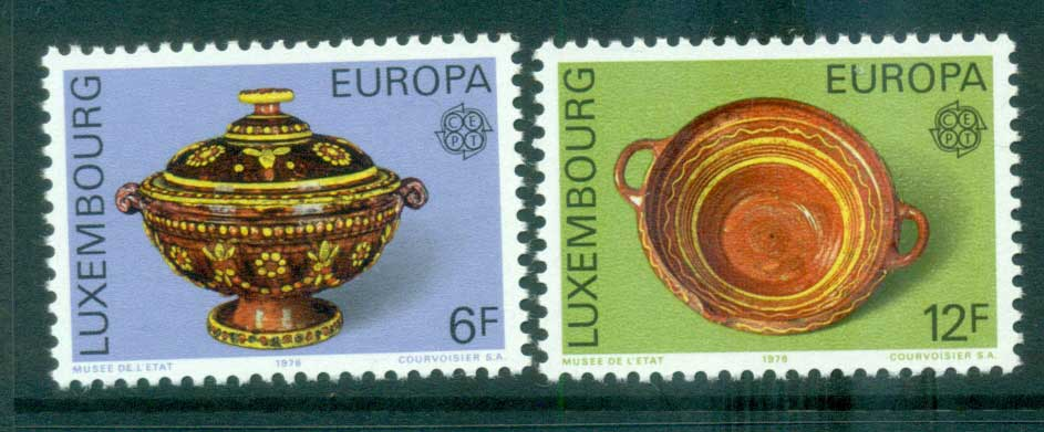 Luxembourg 1976 Europa, Pottery MUH lot65642