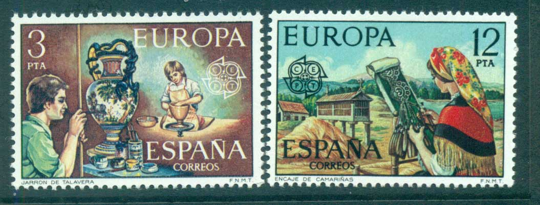 Spain 1976 Europa, Pottery MUH lot65645