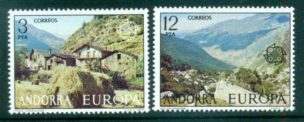 Andorra (Sp) 1977 Europa, Landcapes MUH lot65652