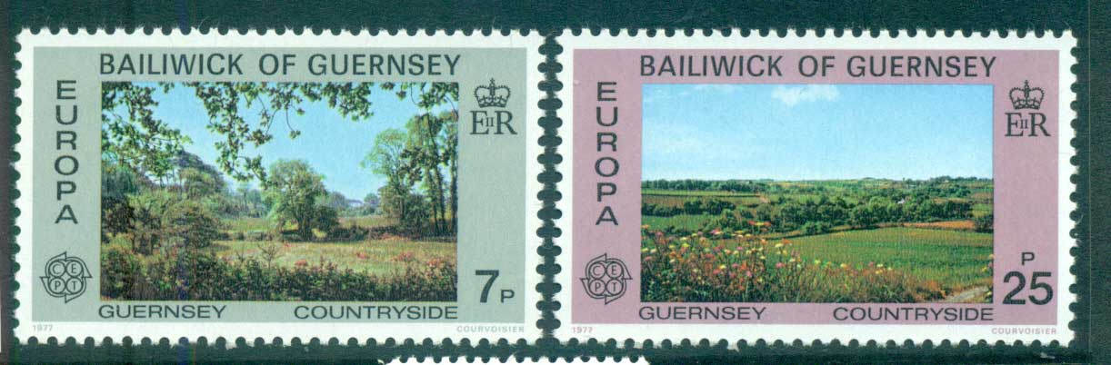 Guernsey 1977 Europa, Landcapes MUH lot65657