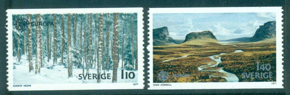 Sweden 1977 Europa, Landcapes MUH lot65671