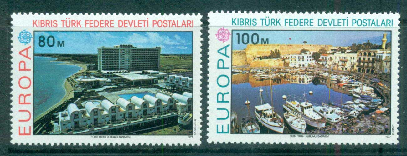 Cyprus Turkish 1977 Europa, Landcapes MUH lot65674