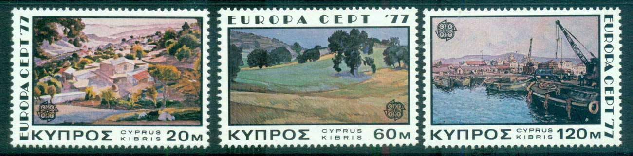 Cyprus 1977 Europa, Landcapes MUH lot65677
