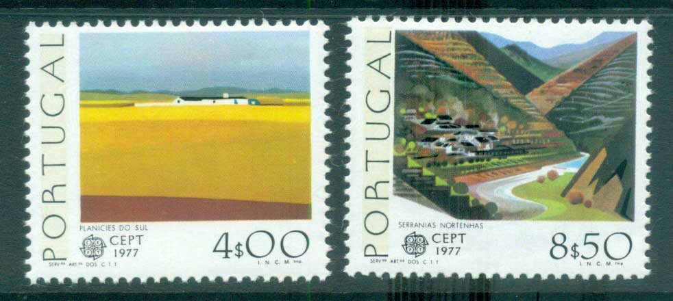 Portugal 1977 Europa, Landcapes MUH lot65678