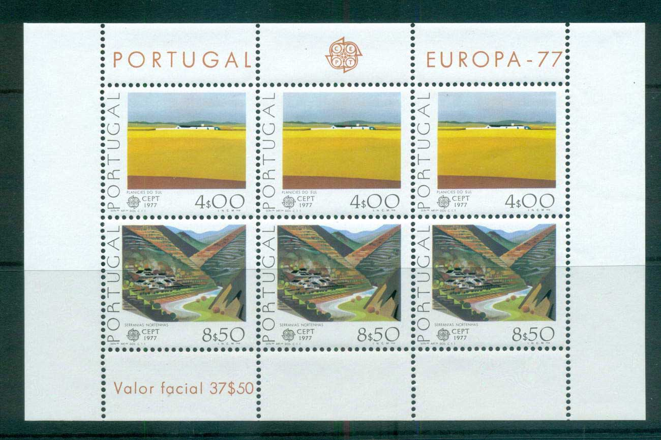 Portugal 1977 Europa, Landcapes MS MUH lot65680