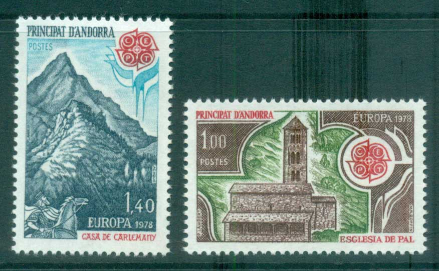 Andorra (Fr) 1978 Europa, Architecture MUH lot65682