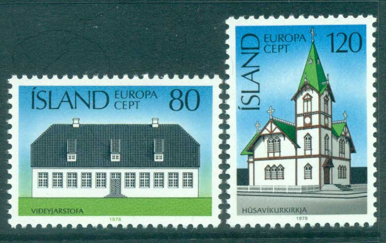 Iceland 1978 Europa, Architecture MUH lot65692