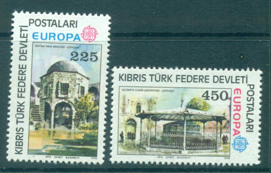 Cyprus Turkish 1978 Europa, Architecture MUH lot65706