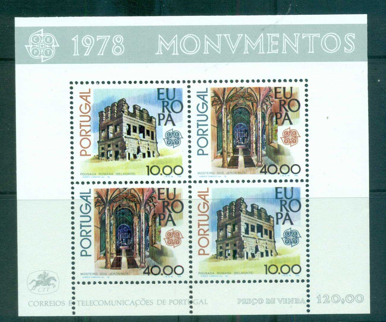 Portugal 1978 Europa, Architecture MS MUH lot65711